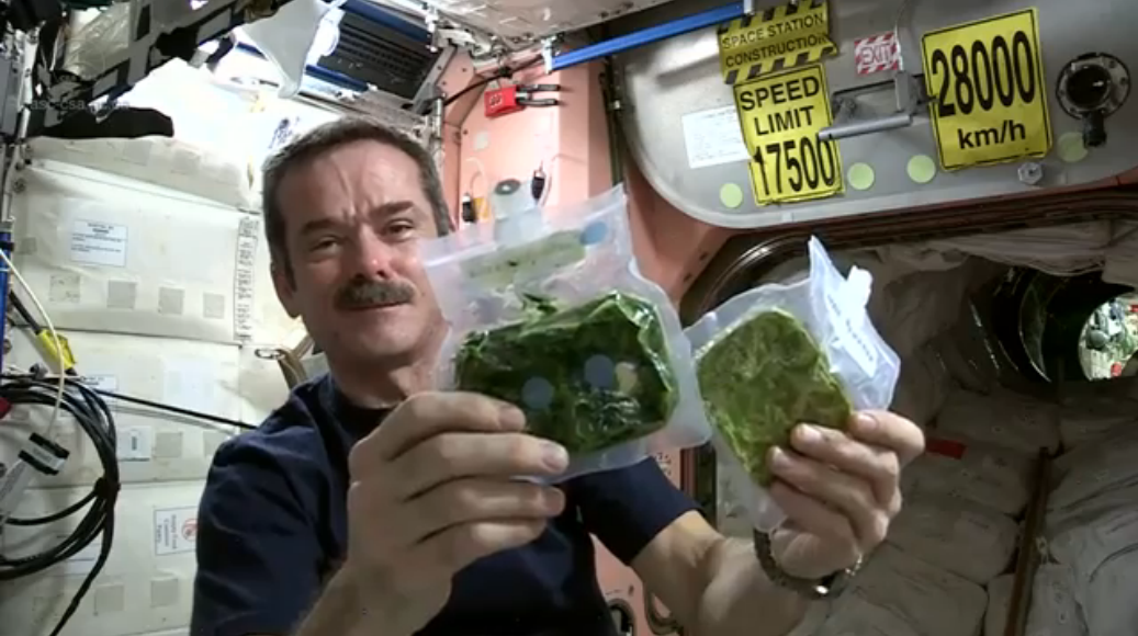International Space Station Eating Food