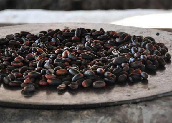 Roasted cocoa beans. Photo credit: AnubisAbyss/Flickr