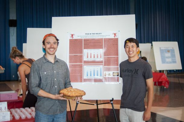"Tom Folker and Eric Hirshfield-Yamanishi take home the ""Most Qualified to Enter a Real Pie Contest"" prize"
