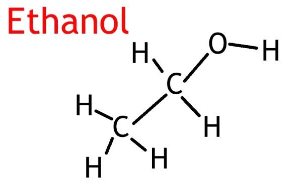 Figure 1: Molecular Formula of Ethanol [Image Credit: Vince C Reyes]