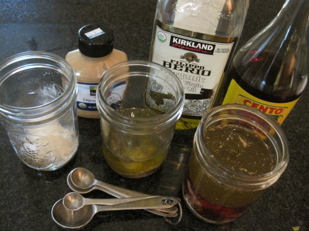 Ingredients to make Greek salad dressing. Photo credit: Julle Magro (magro-family/Flickr)